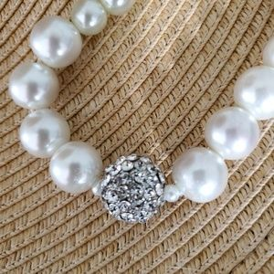 🦄 Faux, Large Pearl Necklace, VTG Style Bling